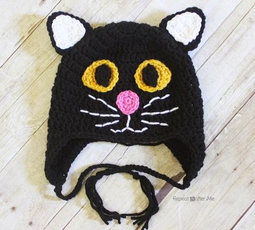 Black Cat Hat Allfreecrochet