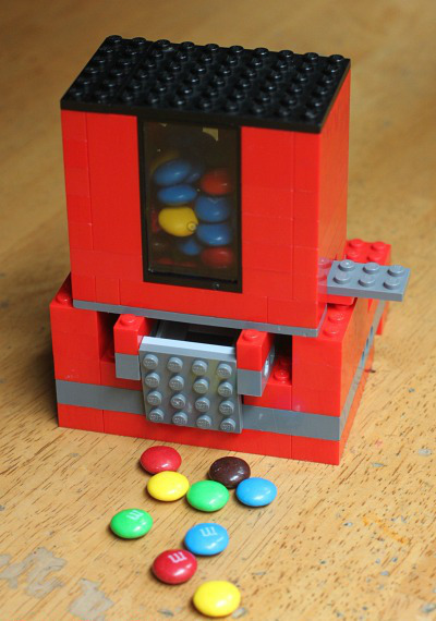 Homemade Candy Dispenser From Lego