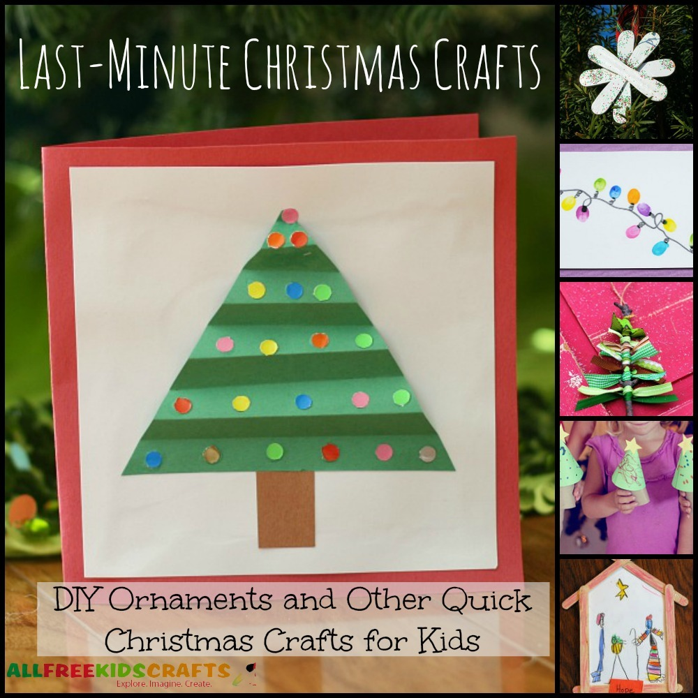 Last Minute Christmas Crafts 20 Diy Ornaments And Other