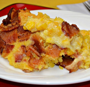 Creamy Cornbread and Bacon Casserole
