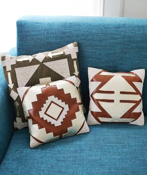 Leather Aztec DIY Pillows