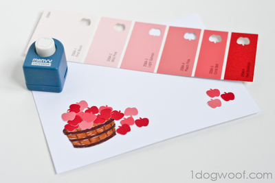 Apple Orchard Paint Chip Greeting Cards