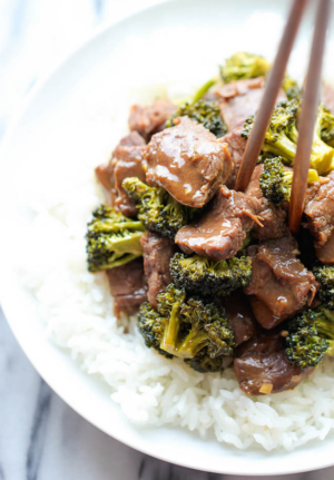 Easiest Ever Slow Cooker Beef and Broccoli
