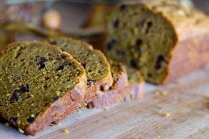 Homemade Great Harvest Pumpkin Chocolate Chip Bread