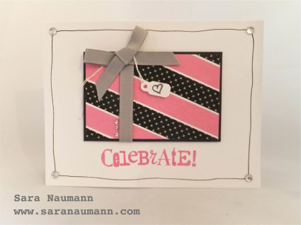 Black and White and Pink All Over Card