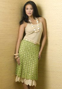 Light Green Crochet Skirt
