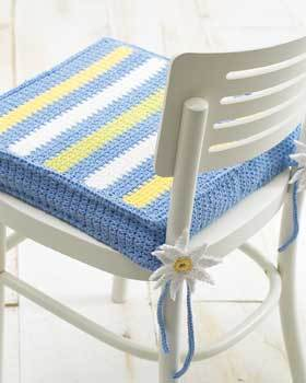 Spring-like Striped Chair Pad