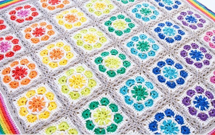 Magic Rainbow Crochet Baby Blanket Allfreecrochetafghanpatterns