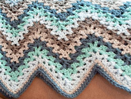 Crochet V Stitch Ripple Afghan   AllFreeCrochetAfghanPatterns.com