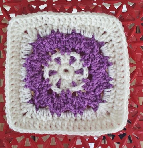 Flower Love in 2D Square Free Crochet Pattern | AllFreeCrochet.com