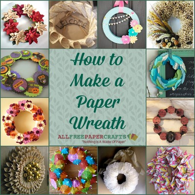 Learn how to make a paper wreath! Wreaths are excellent DIY door decorations because they can literally be crafted for any occasion. & How to Make a Paper Wreath: 12 DIY Door Wreaths ...