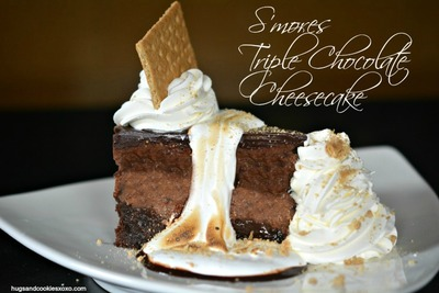 Homemade Cheesecake Factory Smores Triple Chocolate Cheesecake