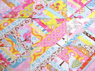 Easy Diamond Strip Quilt Block