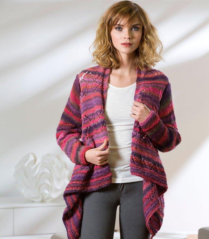 Drape Front Knit Cardigan Allfreeknitting