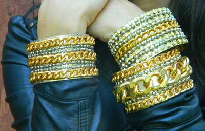 Glam Rock Chain Cuffs