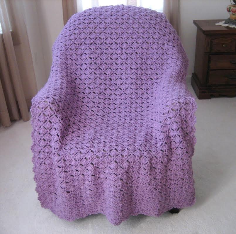 Free Crochet Patterns Shell Stitch Afghan : Simply Elegant Crochet Afghan ...