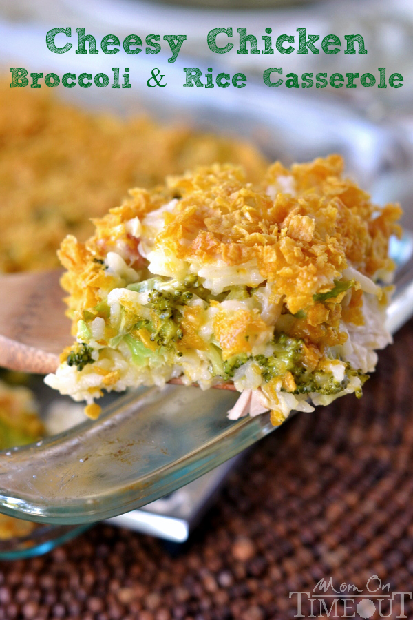 Cheesy Chicken Broccoli and Rice Casserole | FaveSouthernRecipes.com