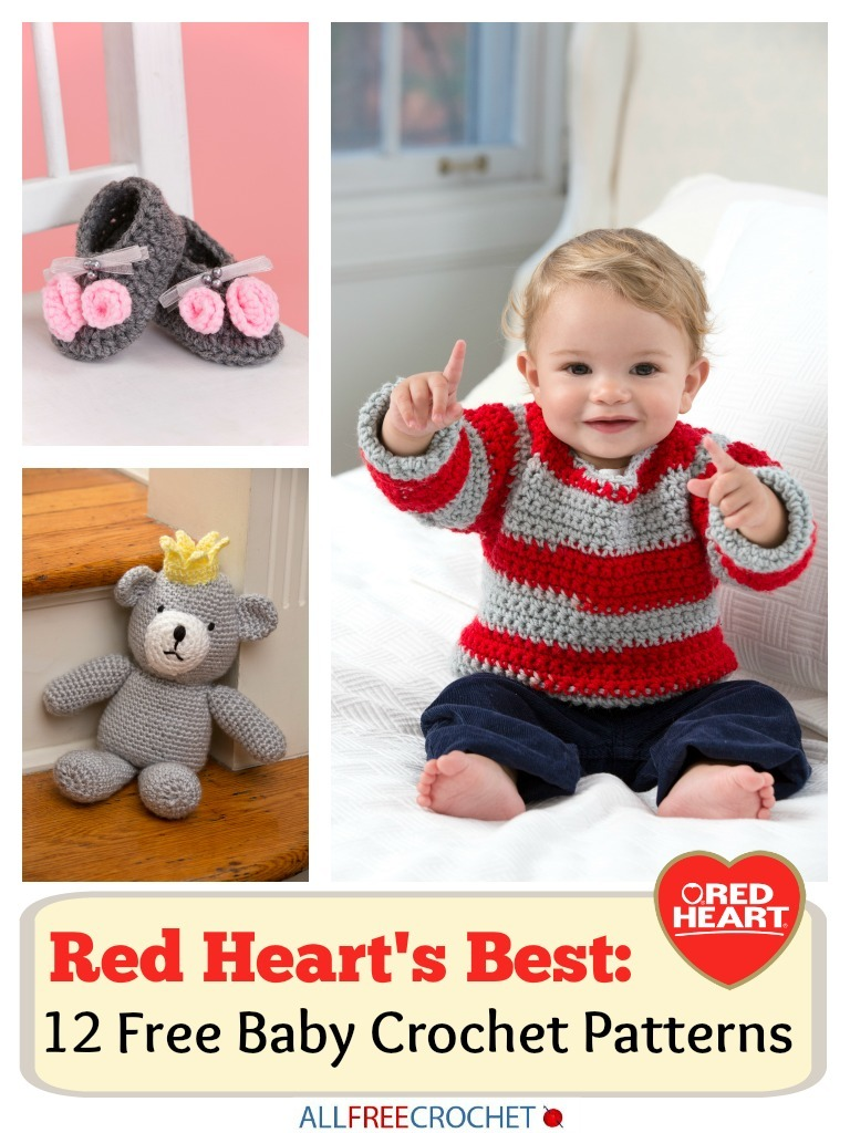 Red Heart\'s Best: 12 Free Baby Crochet Patterns | AllFreeCrochet.com