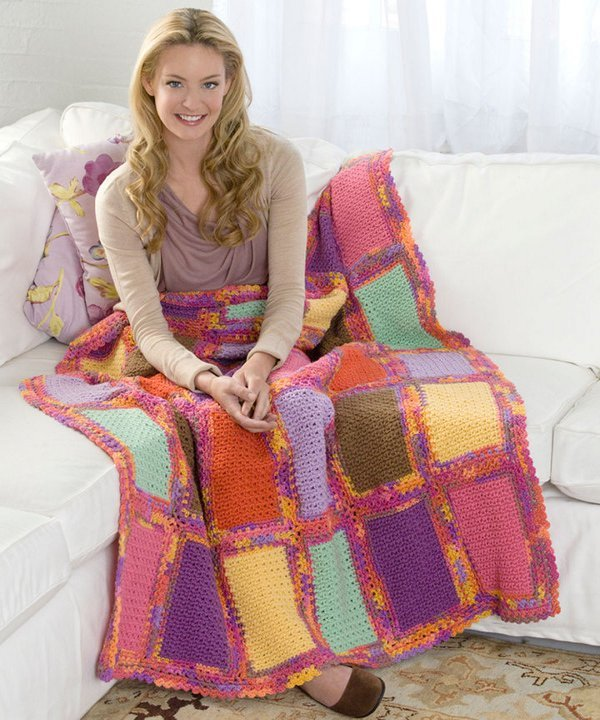 Scrap Happy Quilter's Afghan