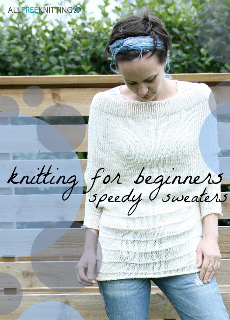 Easy Baby Jumper Knitting Pattern For Beginners : Knitting for Beginners: 17 Speedy Sweaters AllFreeKnitting.com