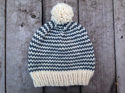 How To Knit A Simple Baby Hat With Straight Needles Zones