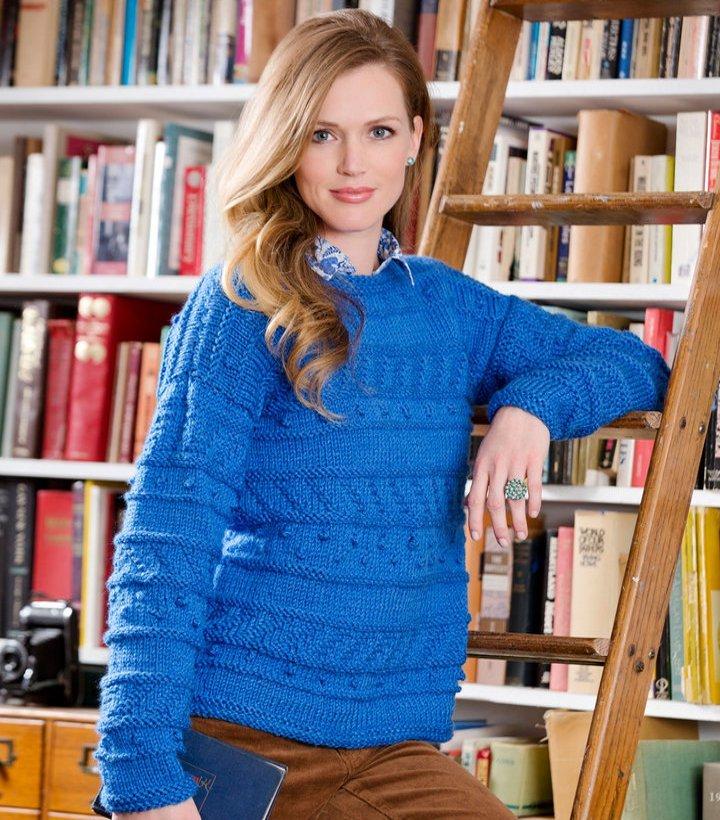 Sapphire Knit Pullover Pattern Allfreeknitting
