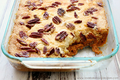 Fall Harvest Pumpkin Dump Cake