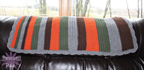 Woodland Stripes Crochet Blanket Allfreecrochet