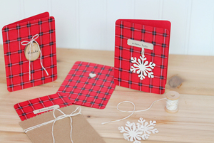 Wintry Rustic Plaid Stationery