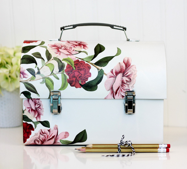 Stunning Decoupaged Desktop Lunch Box