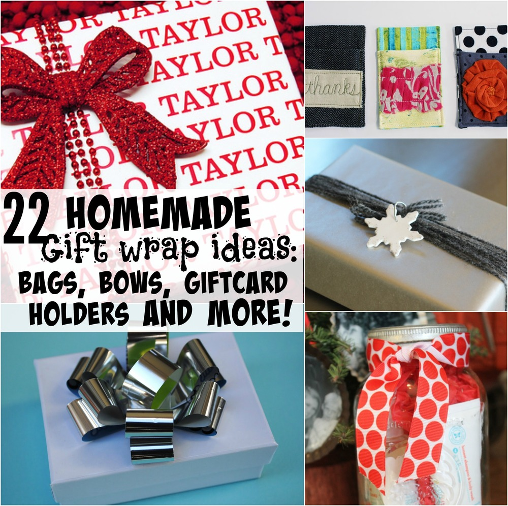 22 Homemade Gift Wrap Ideas Bags Bows Gift Card Holders And More