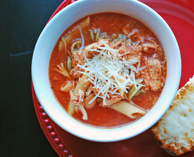 Chicken Parmesan Slow Cooker Soup