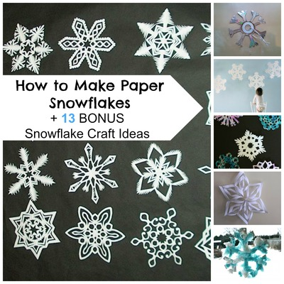 How to Make Paper Snowflakes  13 Bonus Snowflake Craft Ideas