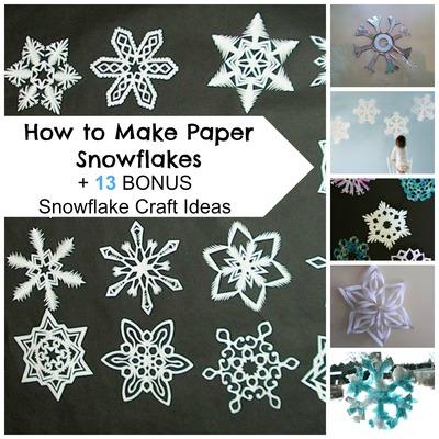 How To Make Paper Snowflakes 13 Bonus Snowflake Craft Ideas