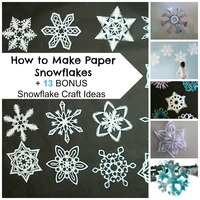How to Make Paper Snowflakes + 13 Bonus Snowflake Craft Ideas