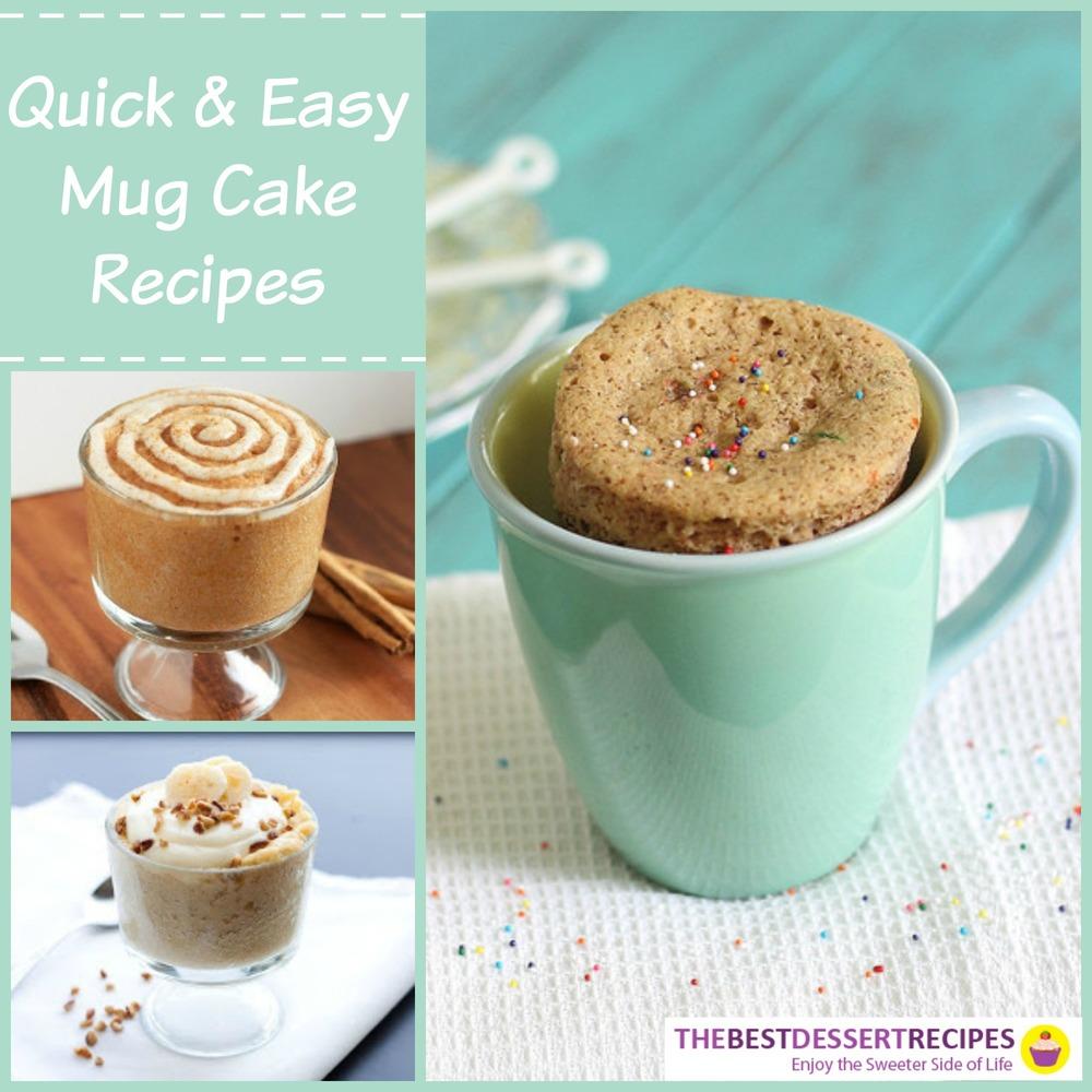 18 quick and easy mug cake recipes for Quick and easy cake recipes