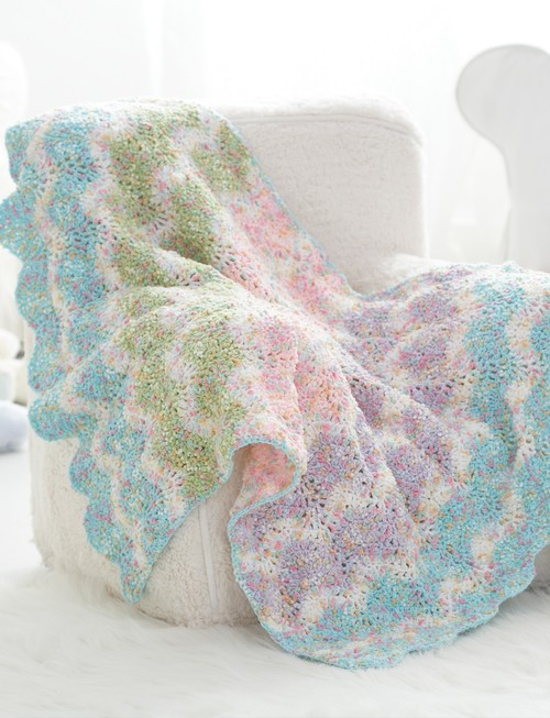 Sweet Pastel Waves Crochet Baby Blanket Pattern