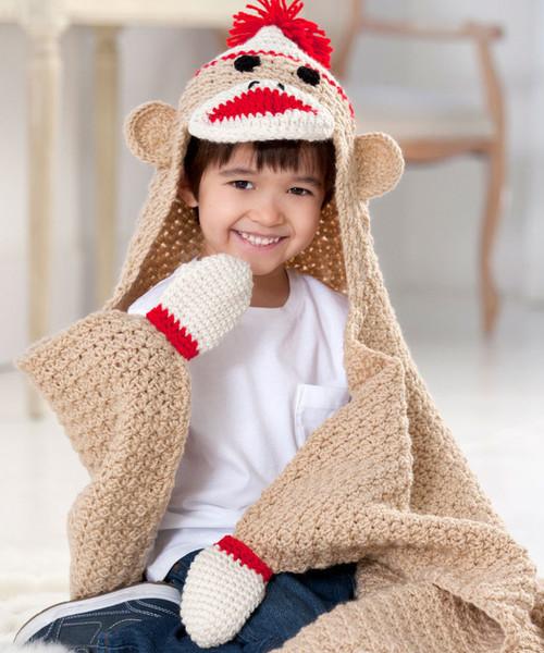 Sock Monkey Crochet Baby Blanket Pattern