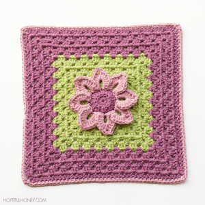 Water Lily Crochet Granny Square Pattern