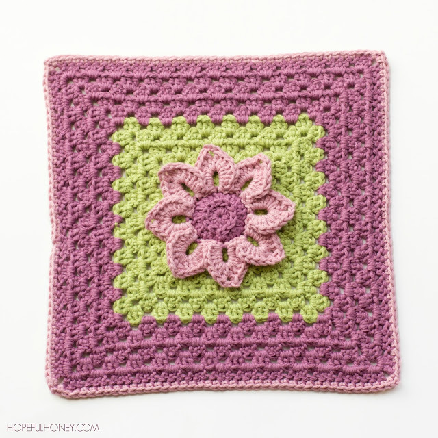 Water Lily Crochet Granny Square Pattern Inspiration Crochet Square Patterns