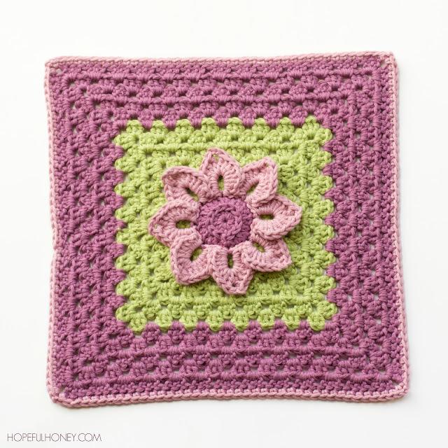 25 Spring Flower Granny Squares | AllFreeCrochetAfghanPatterns.com