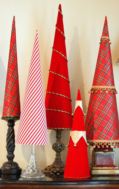 Elegant Christmas Tree Cones