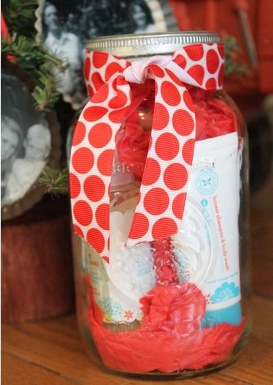 Mason Jar Gift Wrap Allfreeholidaycrafts Com