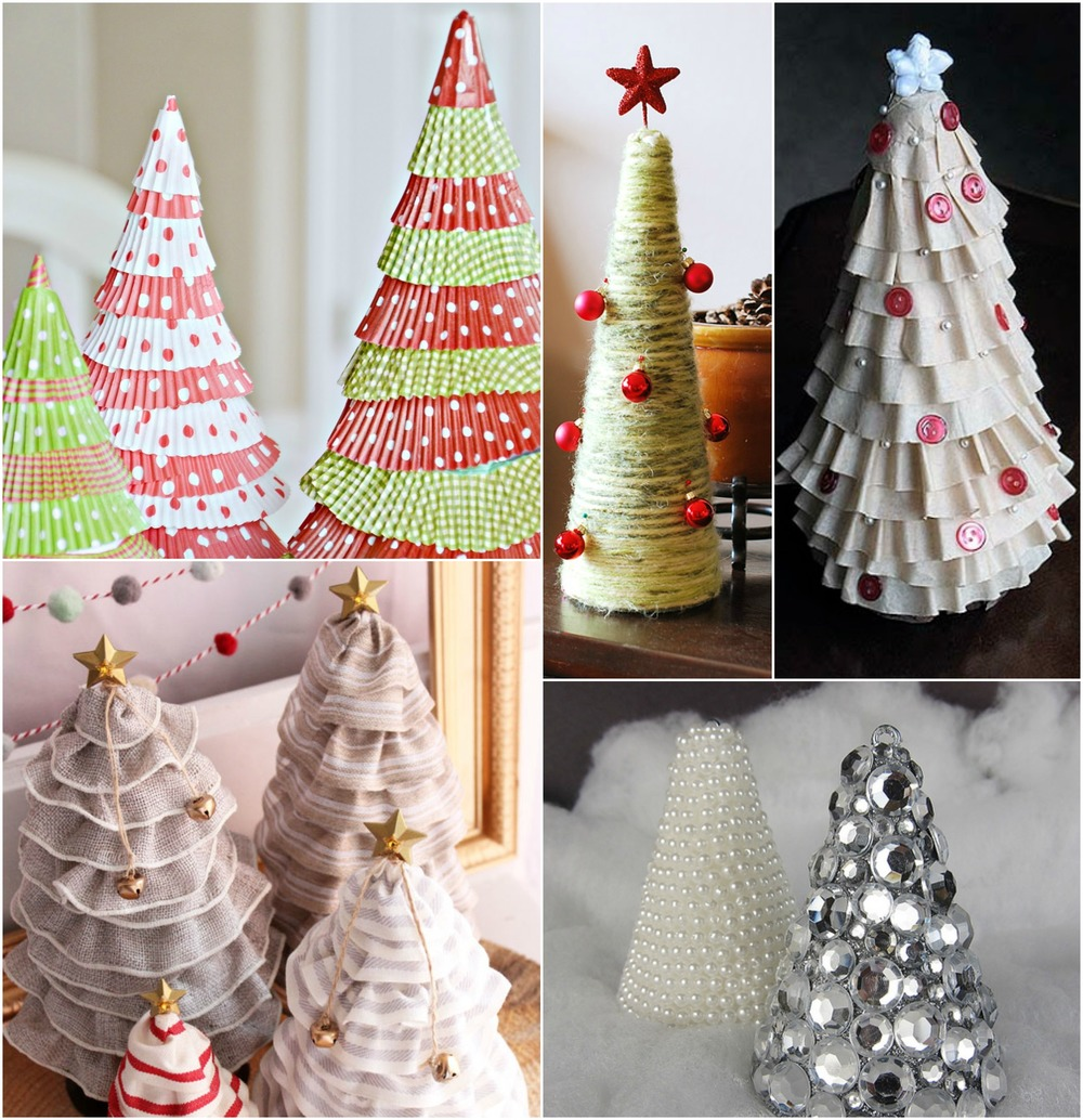 Christmas Tree Craft Ideas 15 DIY Tabletop Trees