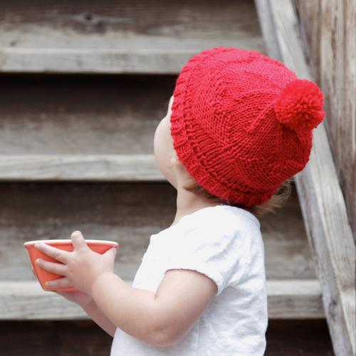 Baby Hearts Hat Allfreeknitting