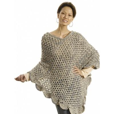 Oversized Lean Poncho Allfreecrochet