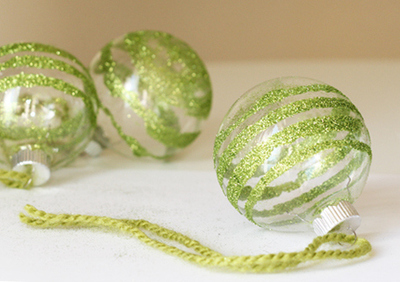 Glass Glitter Ornaments