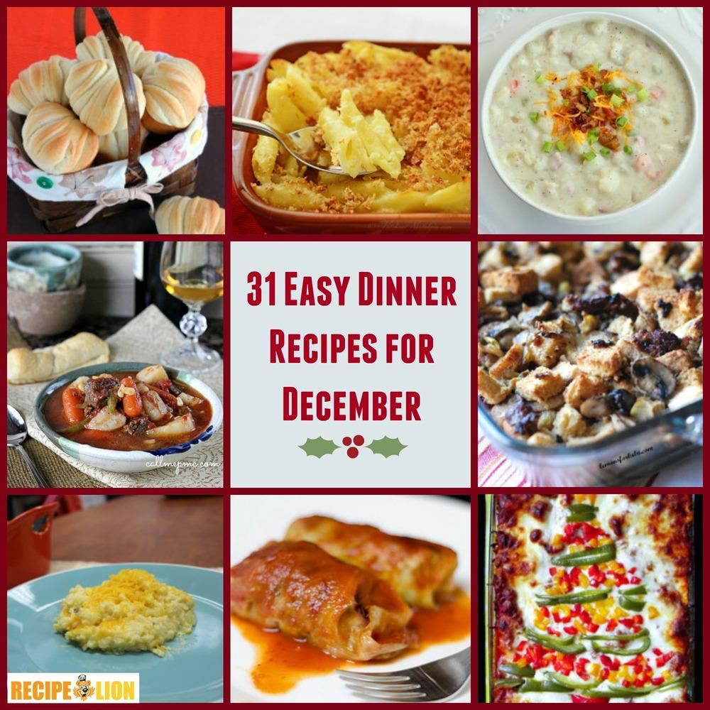 Good Dinner Recipes For 4: 31 Easy Dinner Recipes For December