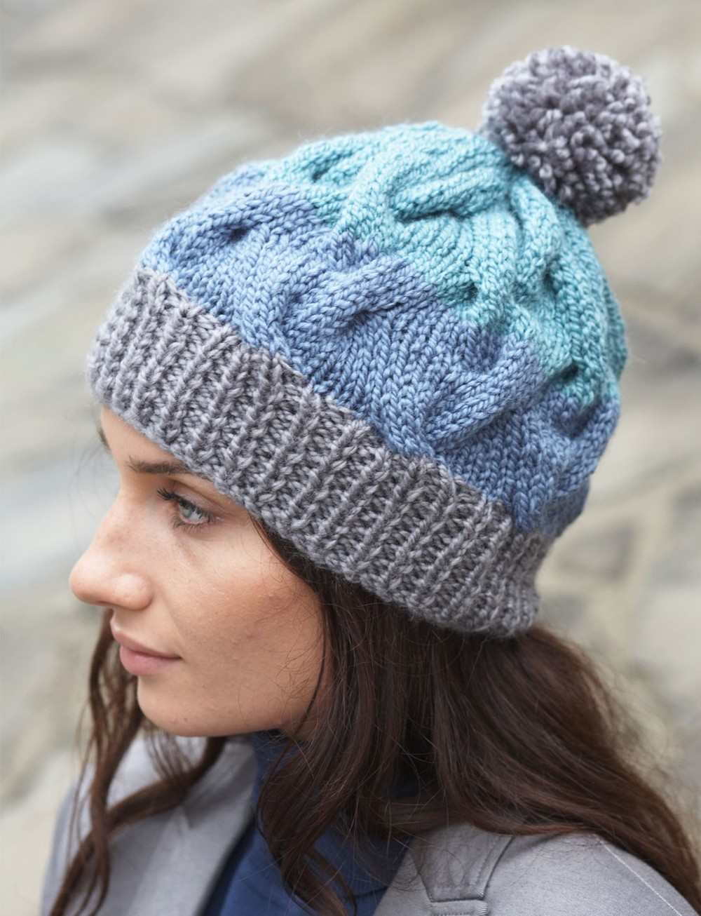 cable crush winter hat. Black Bedroom Furniture Sets. Home Design Ideas