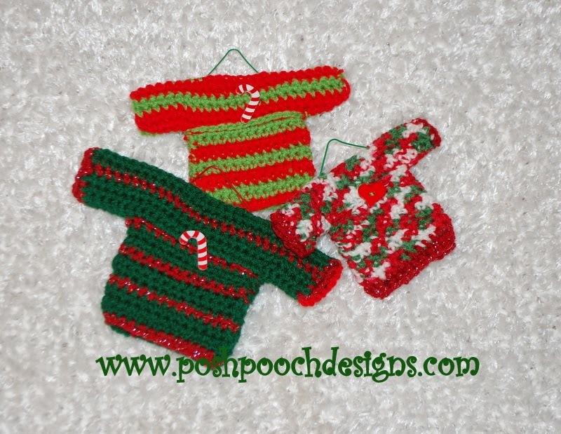 Super Cute Sweater Ornaments Allfreecrochet Com